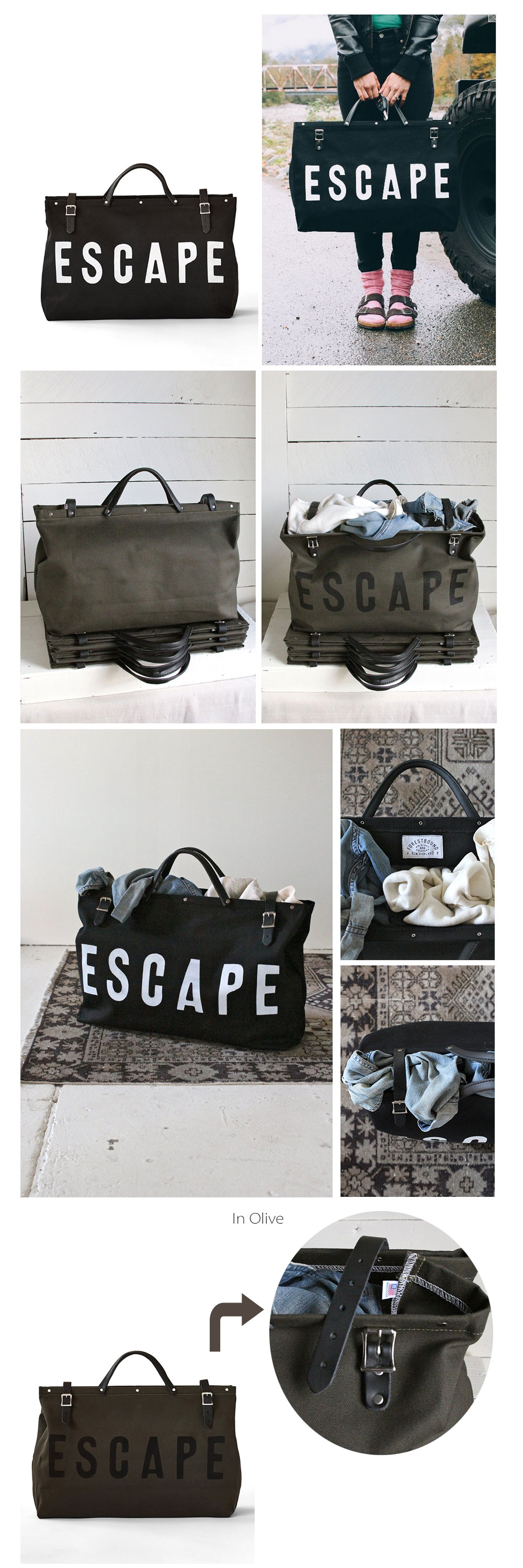Forestbound ESCAPE Canvas Utility Bag Bring this little zoo to home