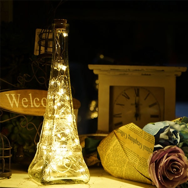 Glass Eiffel Tower Night Light