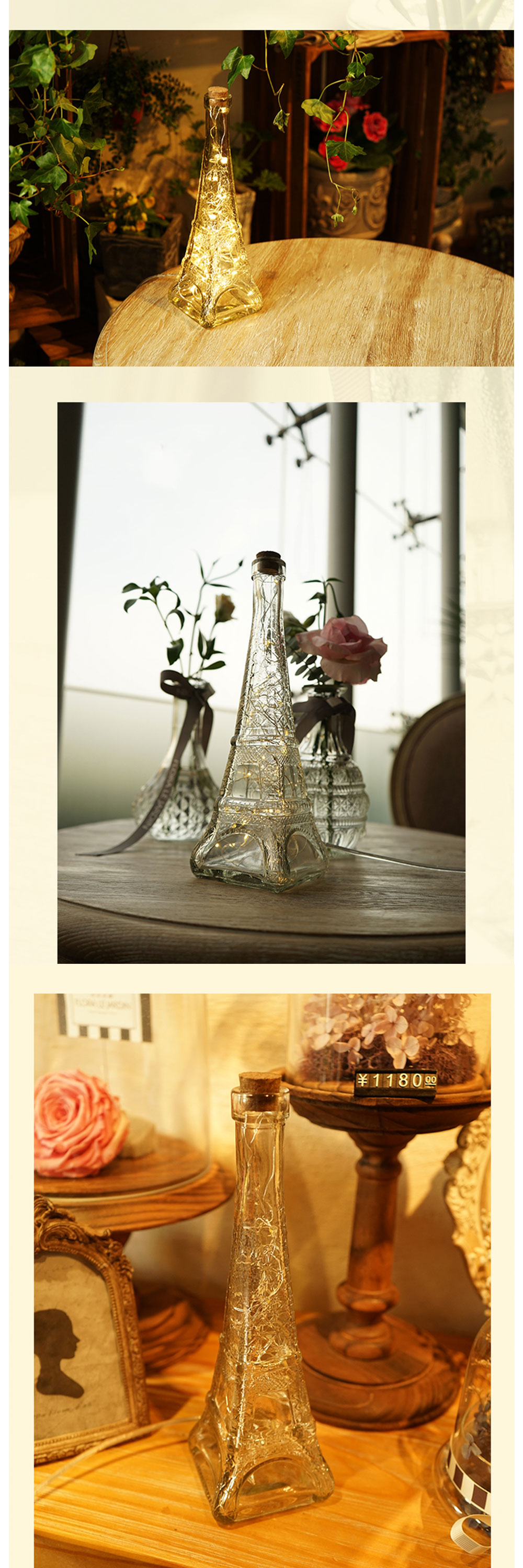 Glass Eiffel Tower Night Light Decorate Your Night
