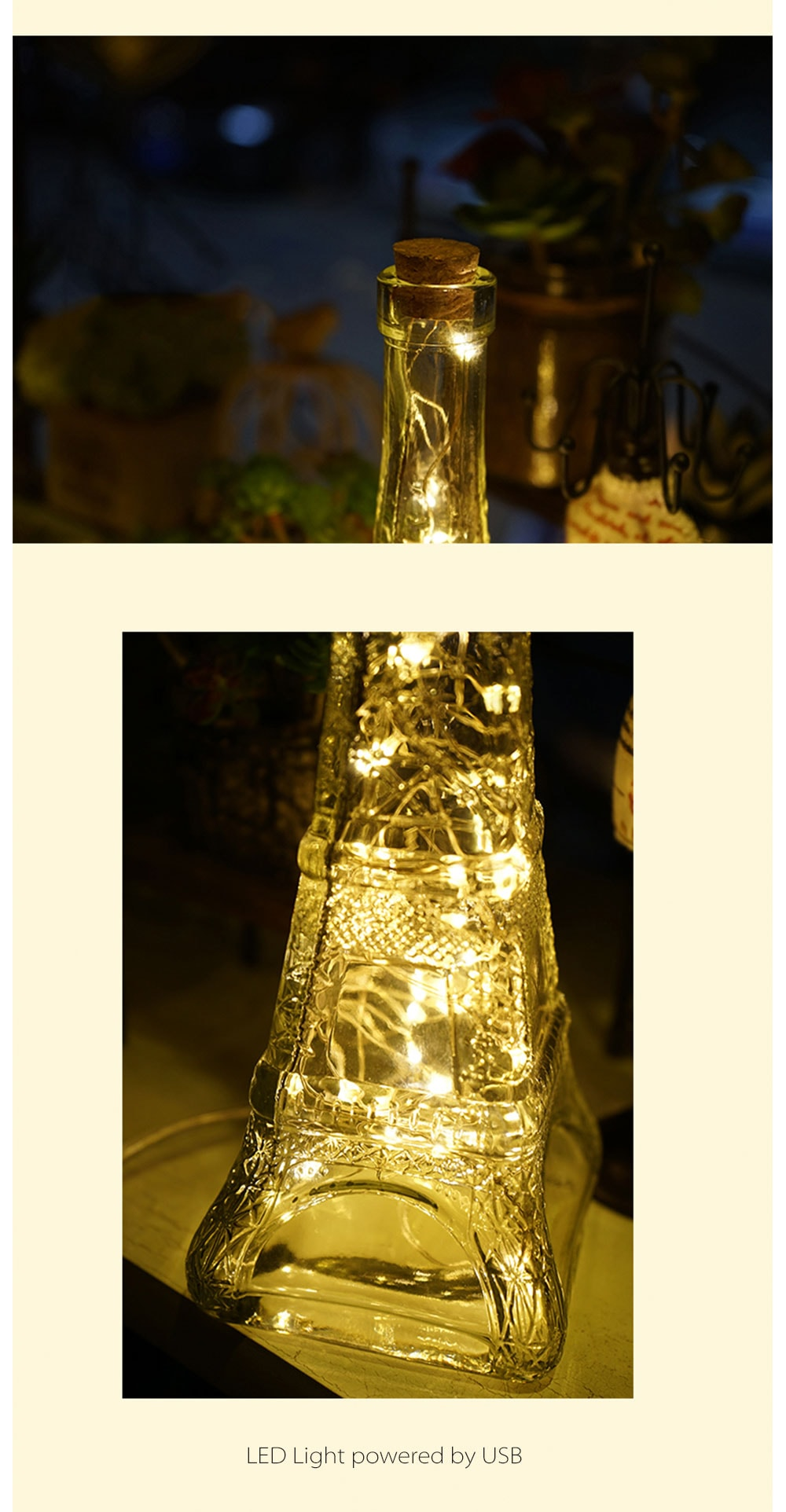 Glass Eiffel Tower Night Light Apollobox