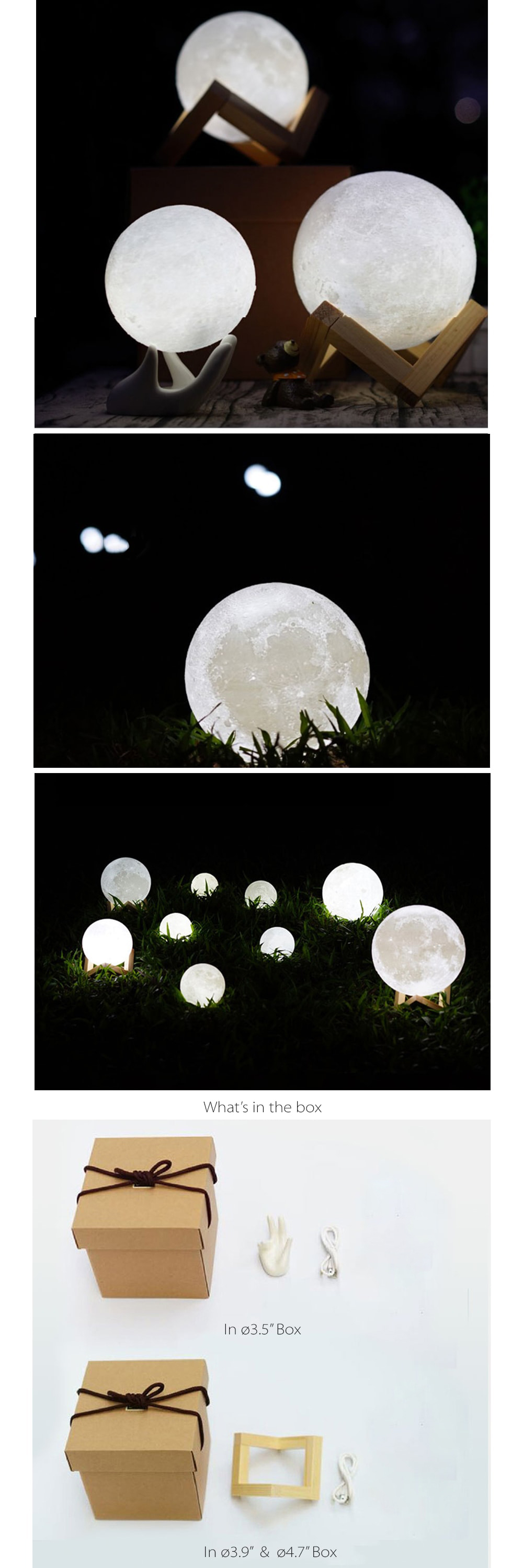 Moon Light USB Charged Night Light