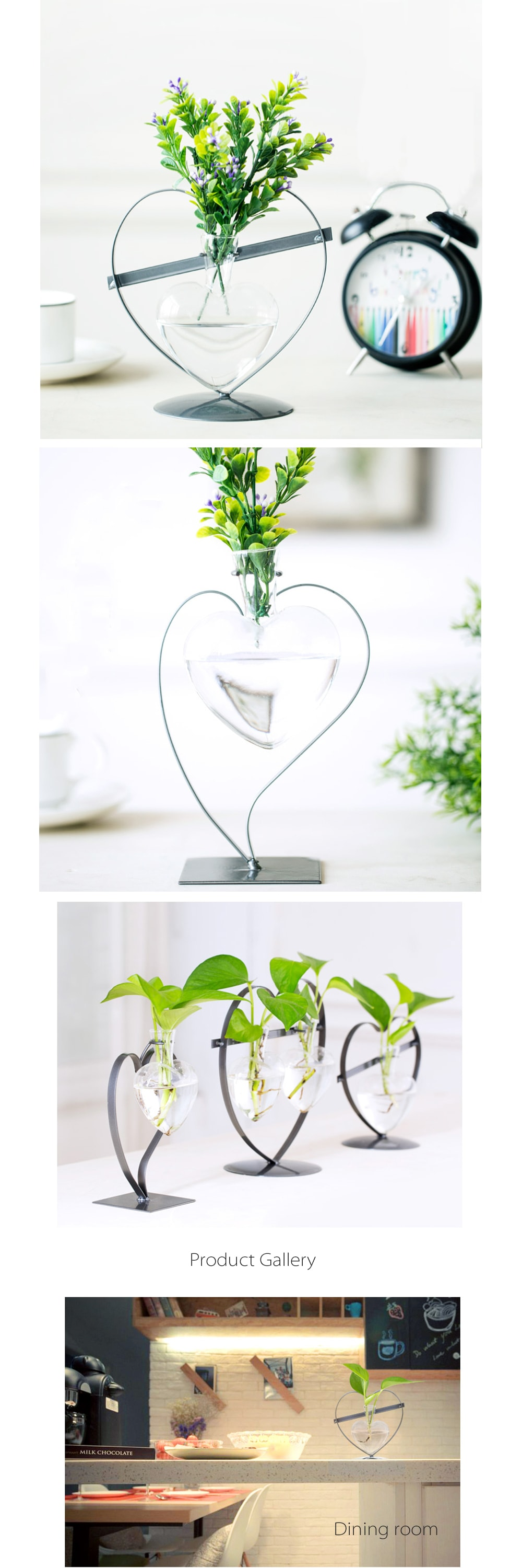 Heart shaped glass vase with metal stand apollobox heart shaped glass vase with metal stand stylish hydroponic vases reviewsmspy