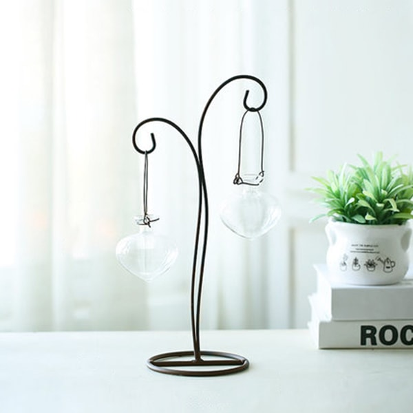 product image for Glass Vase with Butterfly Metal Stand