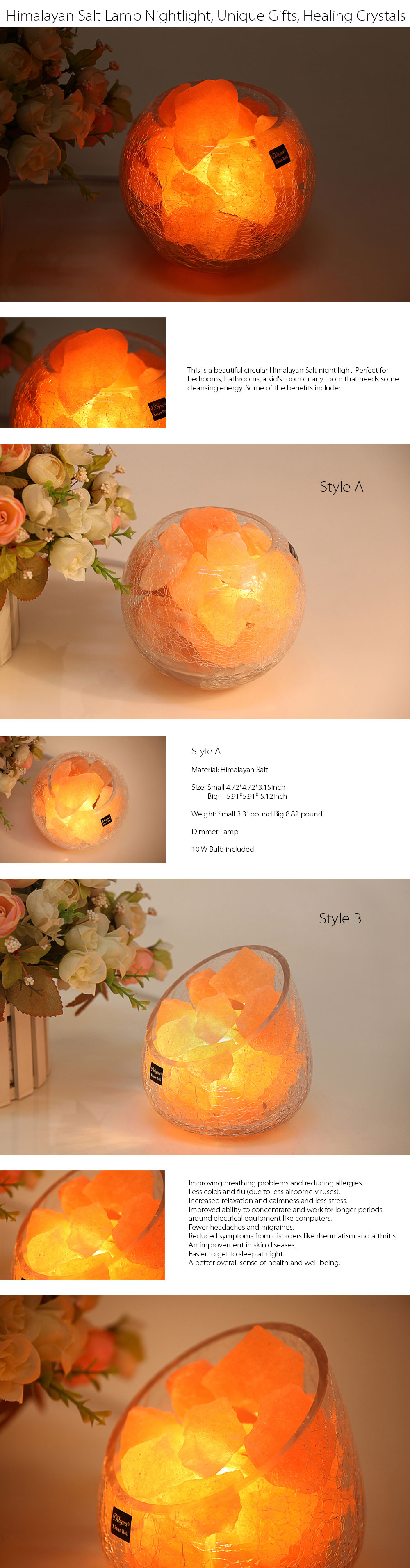 Himalayan Salt Lamps Create the perfect atmosphere in your home