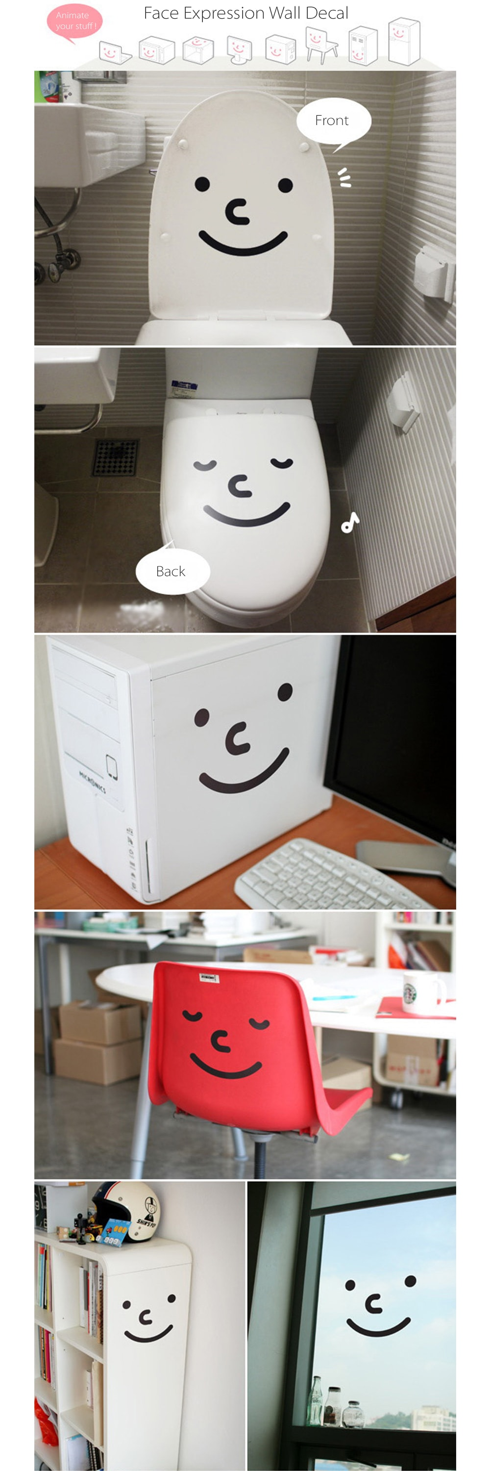 Cute Stickers for Toilet (Set of 2) Fun