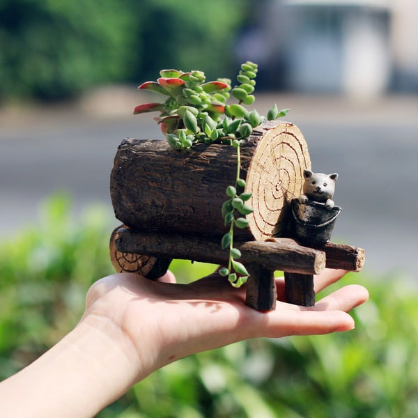 Handmade Resin Planter