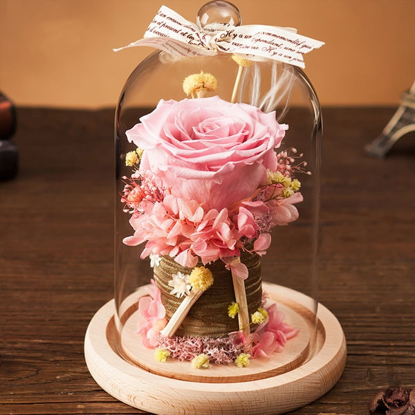 product thumbnail image for Preserved Rose in Glass Dome