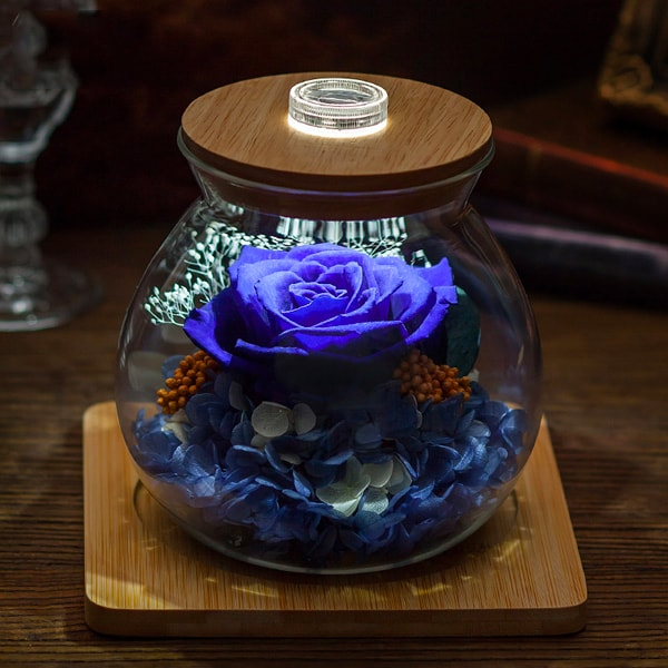 Preserved Rose Light Bottle