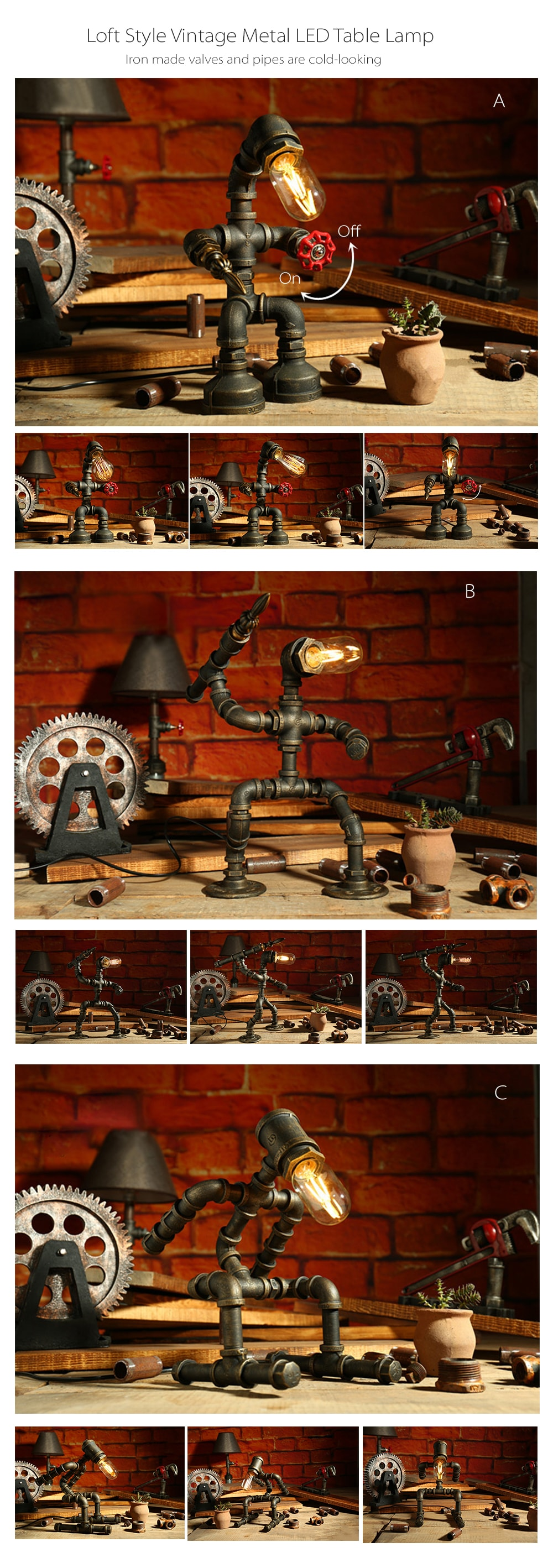 farmhouse pipes lamp crafted and emily vintage husband hand pipe iron a style pinterest wood d designs wife team pin lamps that with is home creative cor big