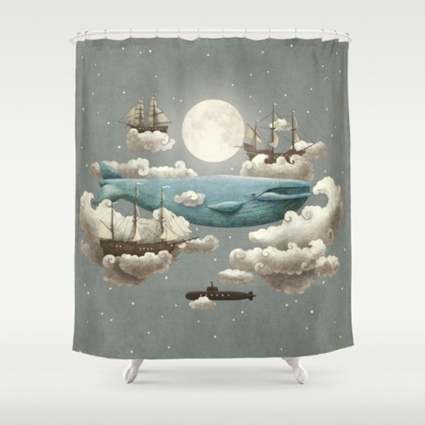 "product image for Moon Art Shower Curtains (71"" x 74"")"