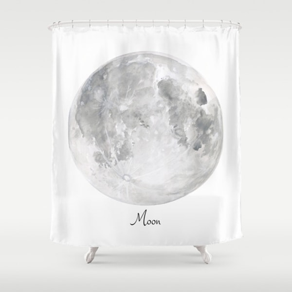 "Moon Art Shower Curtains (71"" x 74"")"
