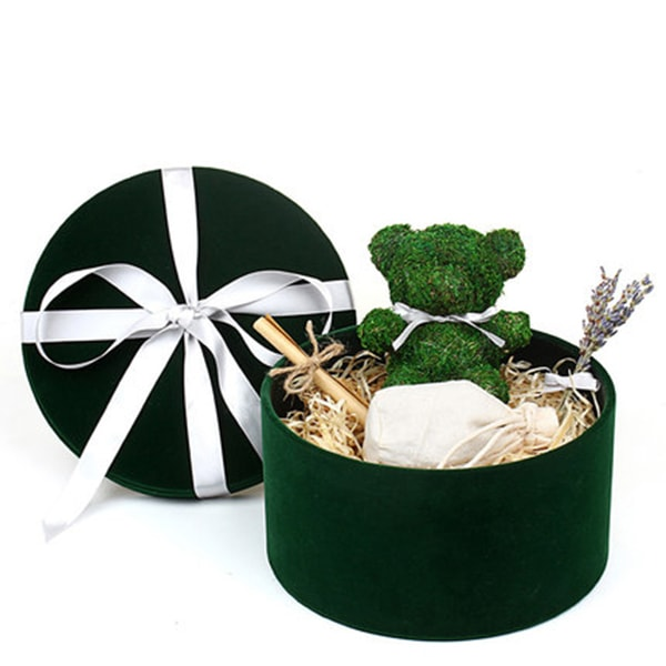 Artificial Moss Bear Gift Box Set