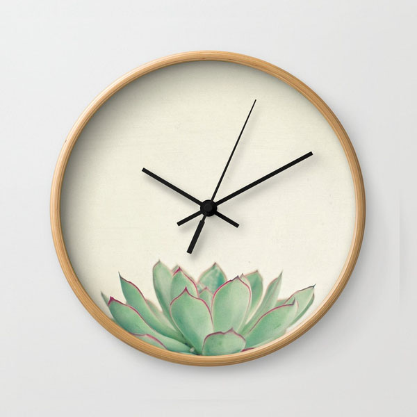 Wall Clock - Echeveria