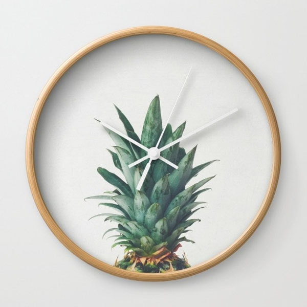 product thumbnail image for Wall Clock - Pineapple Top