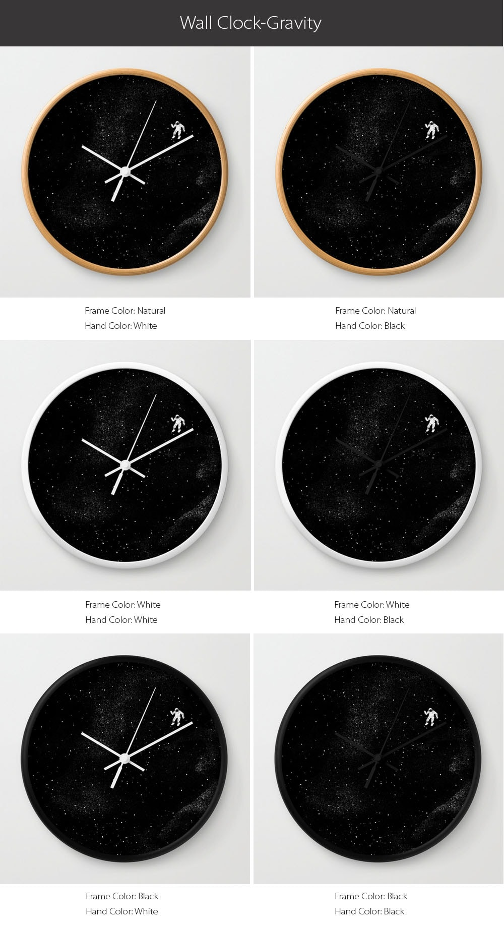 Gravity Wall Clock Inspired by the Movie