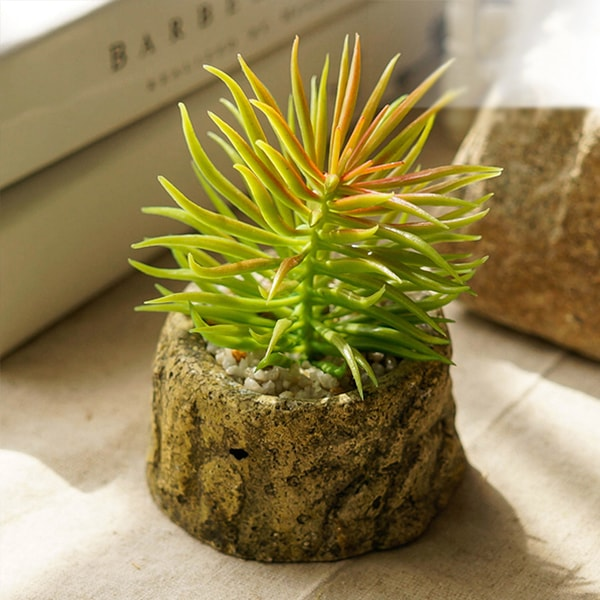 product image for Resin Planter with Faux Plant
