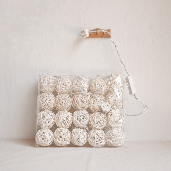 product image for Rattan Ball String Lights