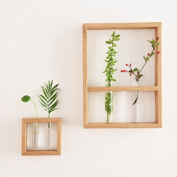 product image for Test Tube Vases With Wood Frame