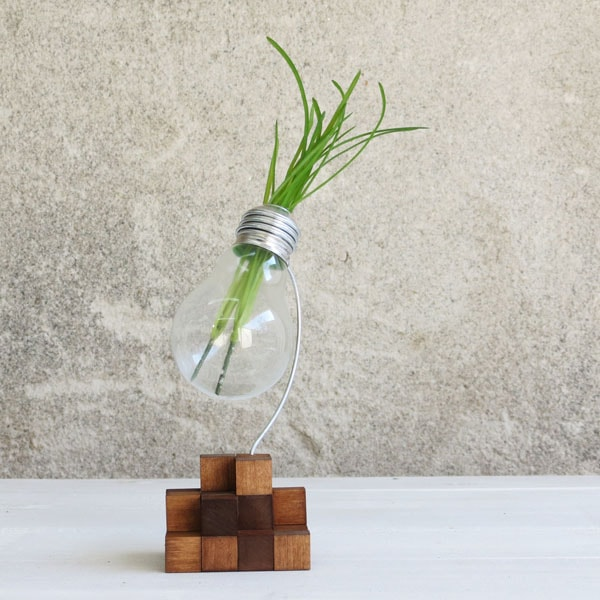 product image for Cube upcycled lightbulb vase