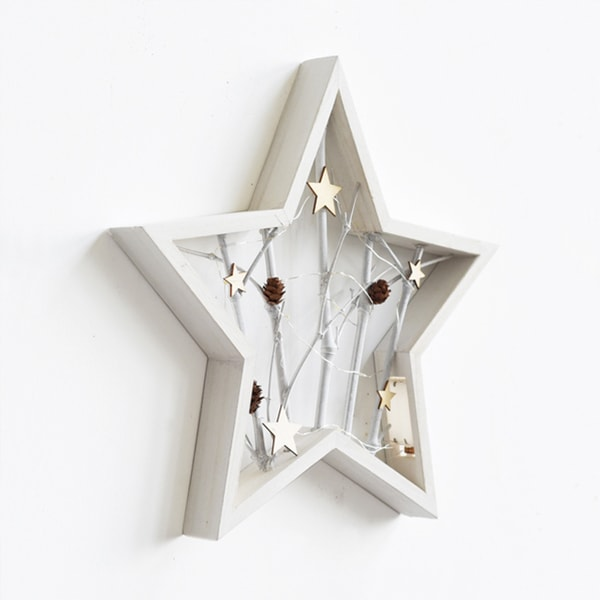 Product Thumbnail Image For Star Shaped Wall Decor With Led Light