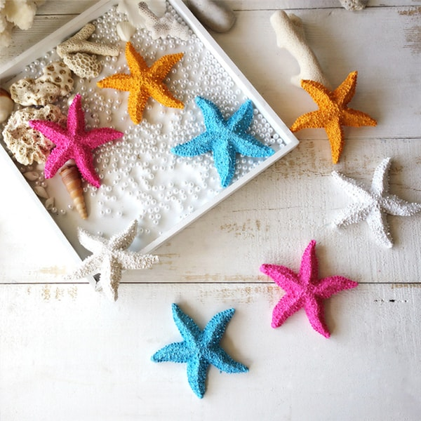 Resin Starfish Decorations (Set of 4)