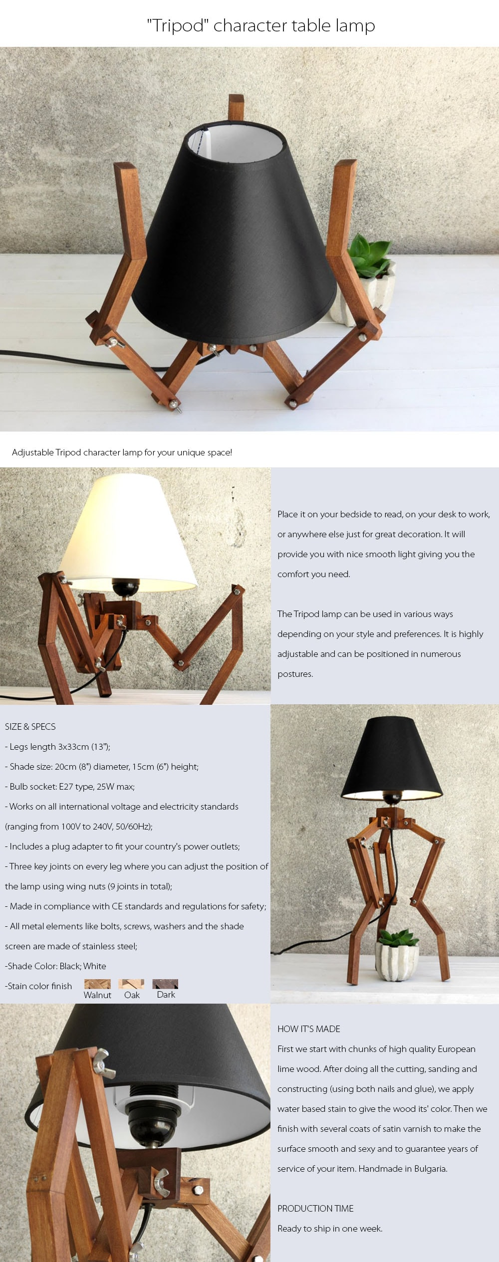 Tripod Character Table Lamp For Your Unique Space