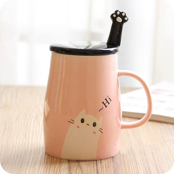 product thumbnail image for Ceramic Coffee Mug and Spoon Set