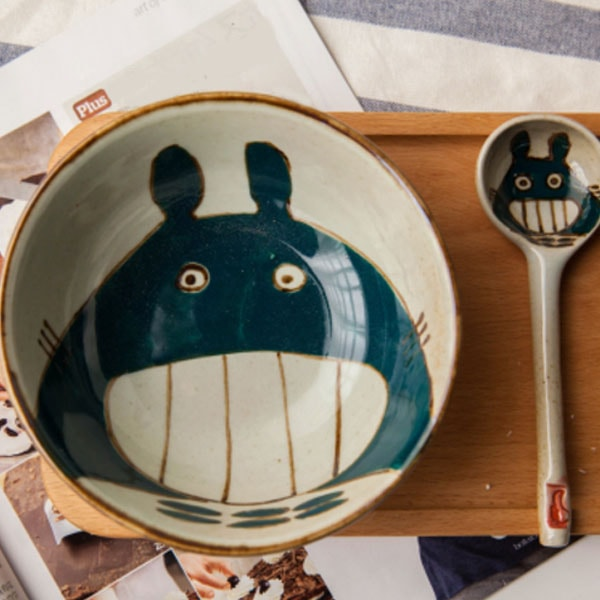 Cartoon Bowl with Spoon