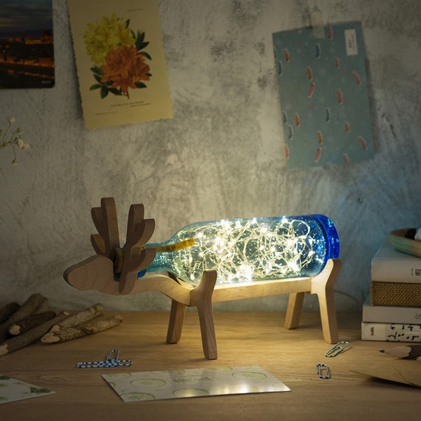 Bottle Lights on Moose Stand