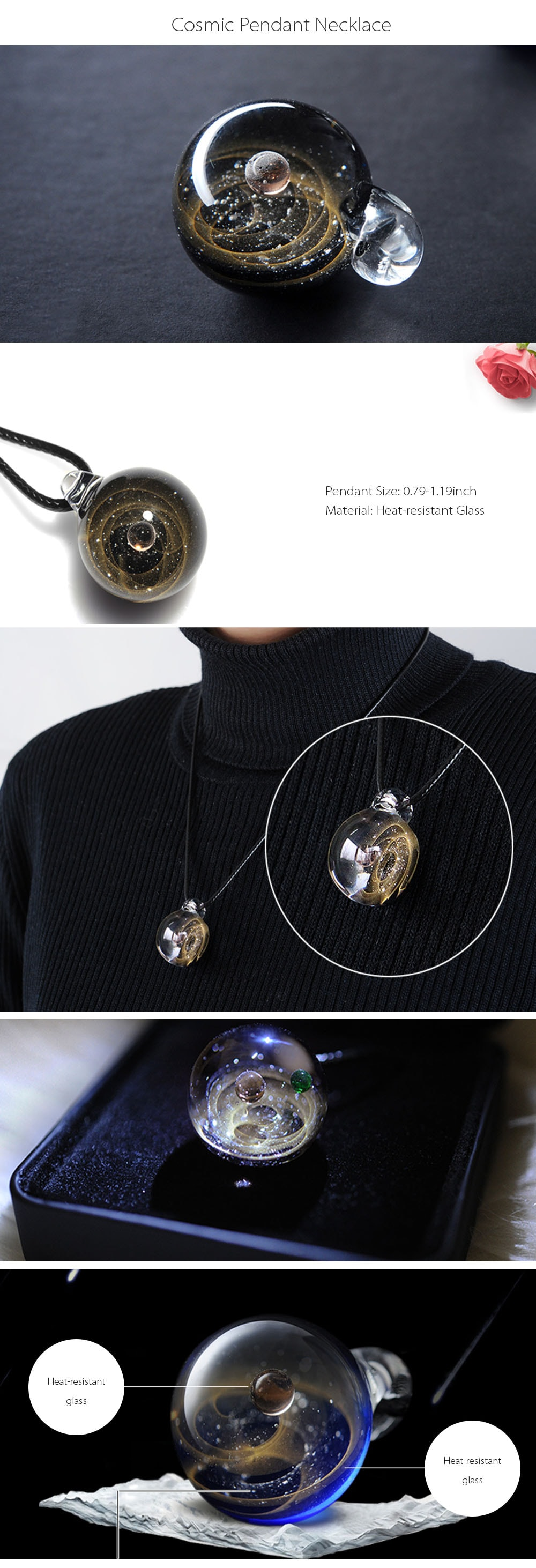 Universal Galaxy Pendant Stylishly Handcrafted