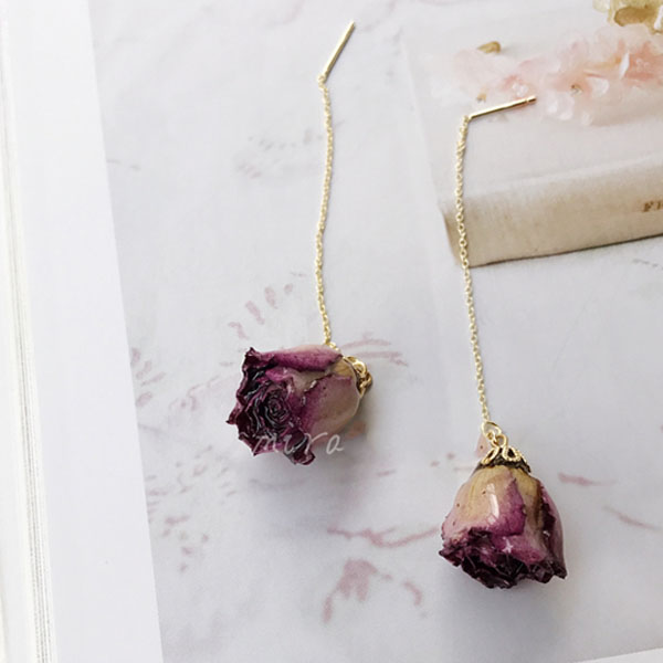 Miniature Rosebud Earrings