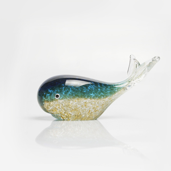 Whale Glass Paperweight