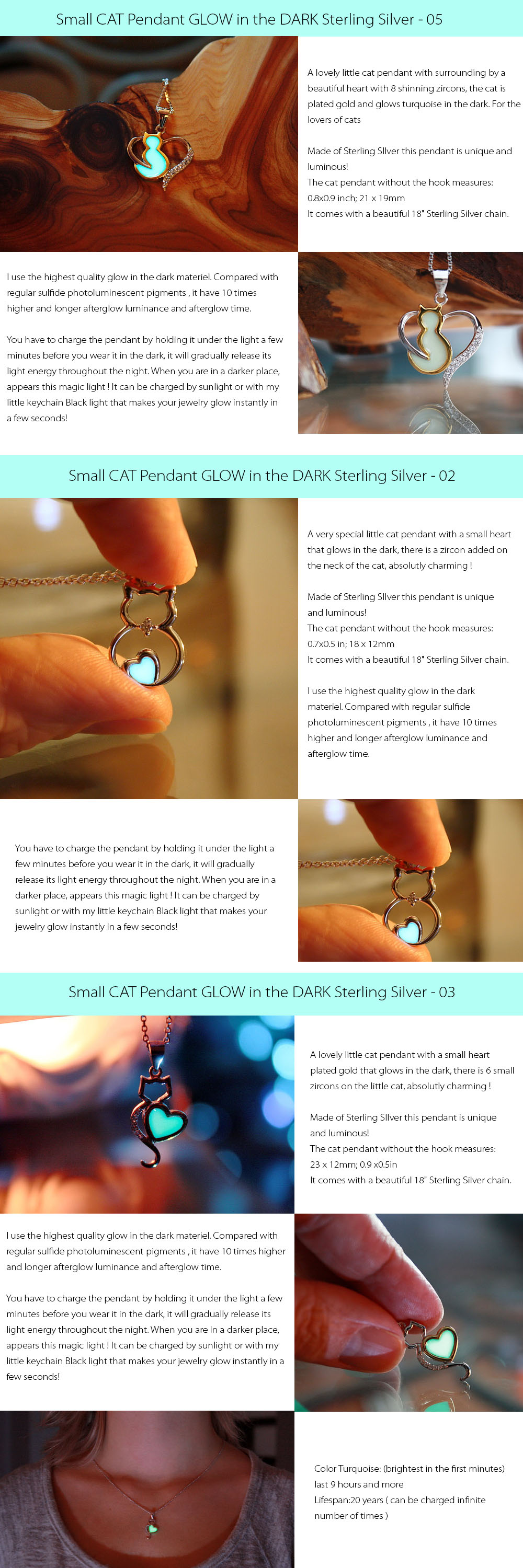 Small CAT Pendant GLOW Small CAT Pendant GLOW