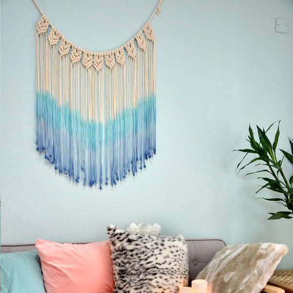 Ombre Colored Woven Wall Art