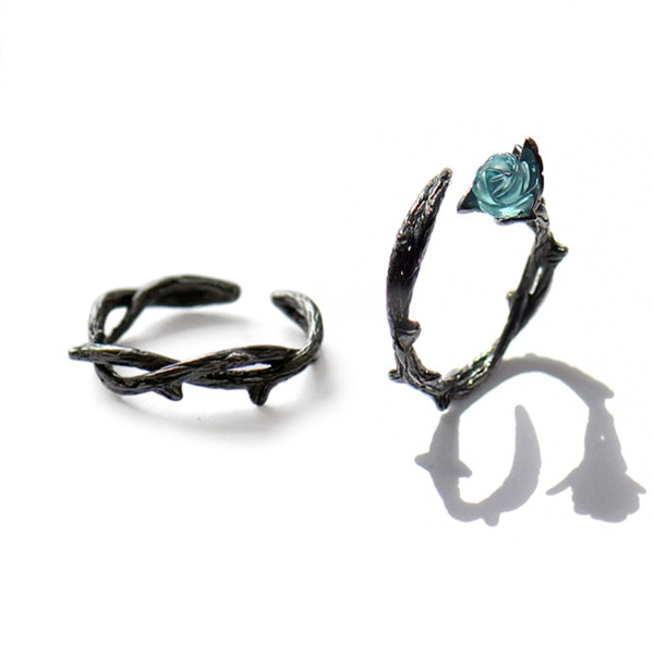 Vintage Style Rose and Thorn Rings