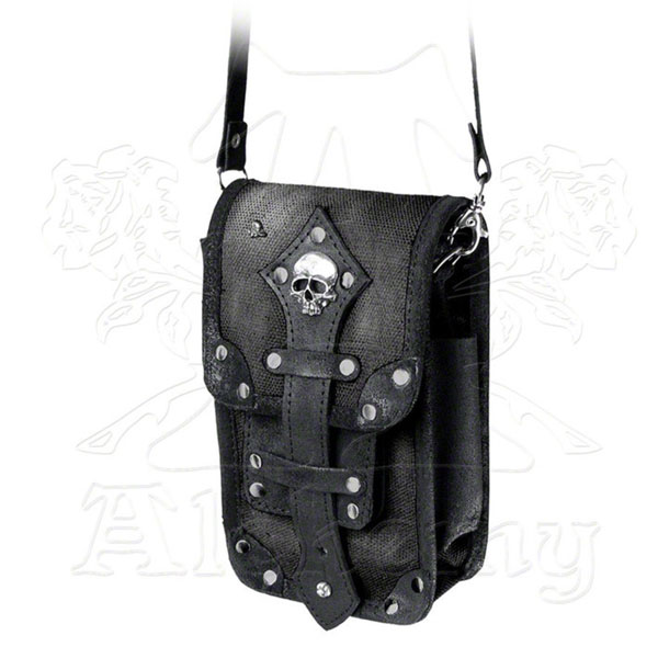 product thumbnail image for Black Leather Aviator Or Captainette Satchel
