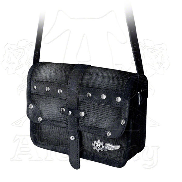 product image for Black Leather Aviator Or Captainette Satchel