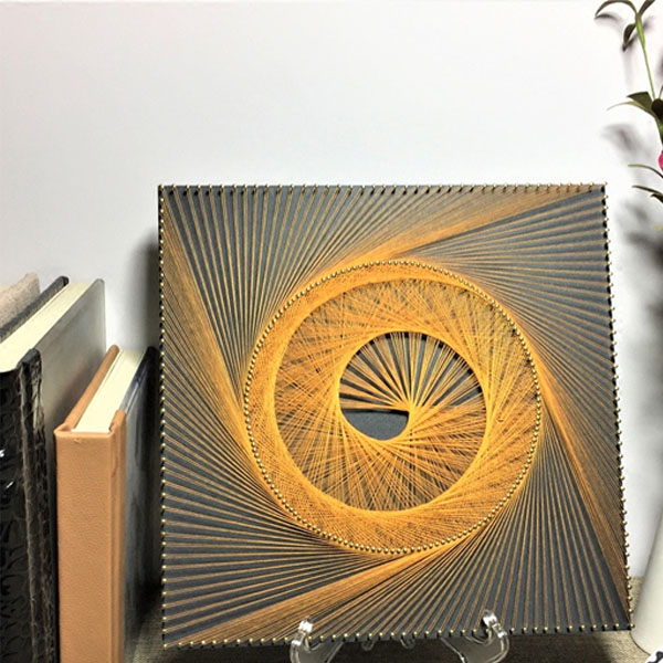 Golden Vortex String Artwork