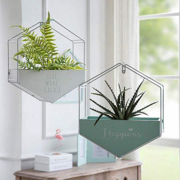 Hanging Hexagon Planters