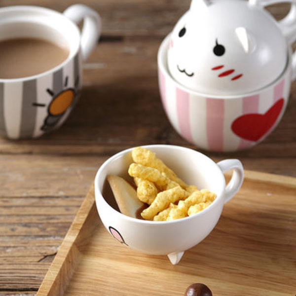 Kawaii Kitty Mug Set