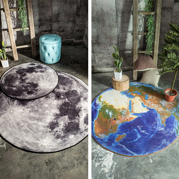 product thumbnail image for 3D Moon Or Earth Area Rug