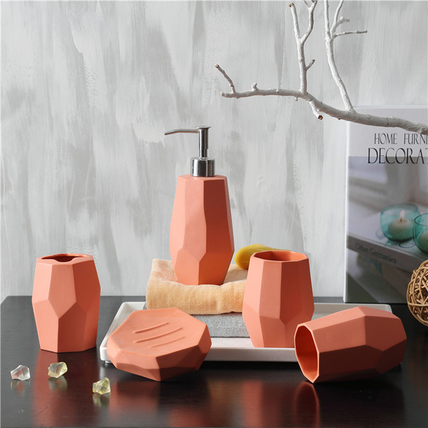 product image for Faceted Bath Accessories Set
