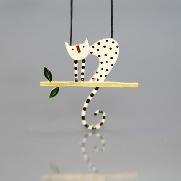 Cat on a Branch Necklace