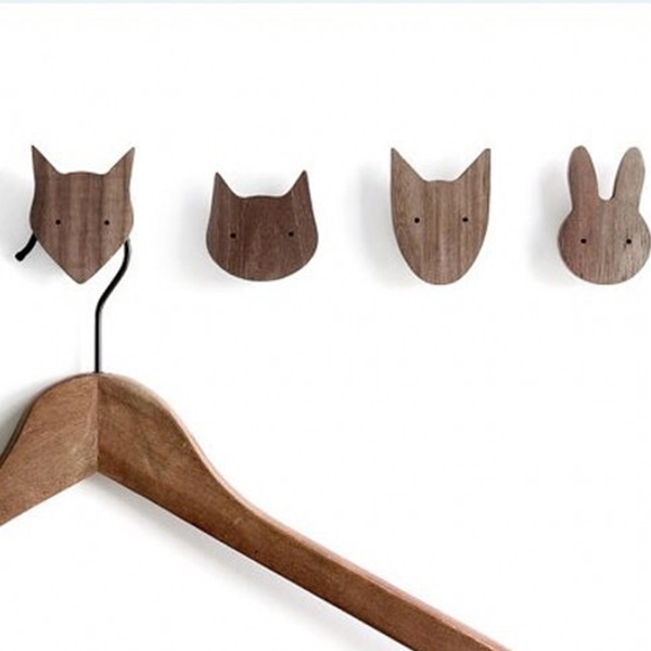 Wood Animal Wall Hooks