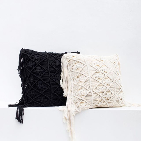 Bali Macrame Pillow Cover