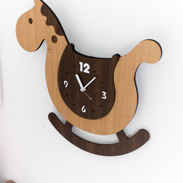 product thumbnail image for Rocking Horse Wall Clock