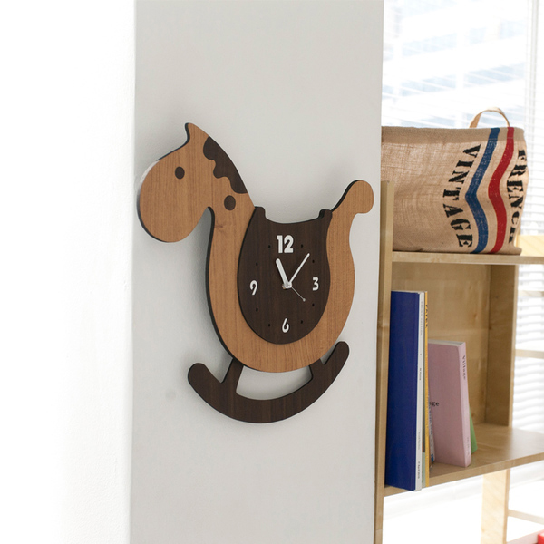 product image for Rocking Horse Wall Clock