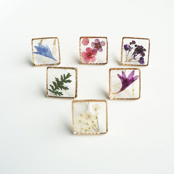 Picture Frame Earring (Single Piece)