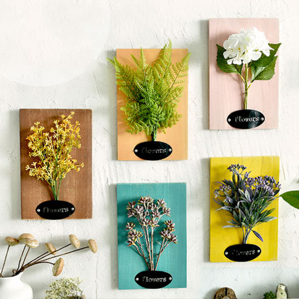 Faux Flower Wall Art