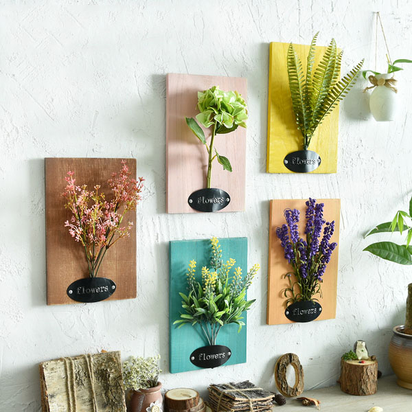 Product Image For Faux Flower Wall Art